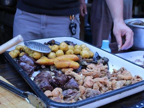 Free stock photo of blood sausage, chicharron, fritanga, morcilla