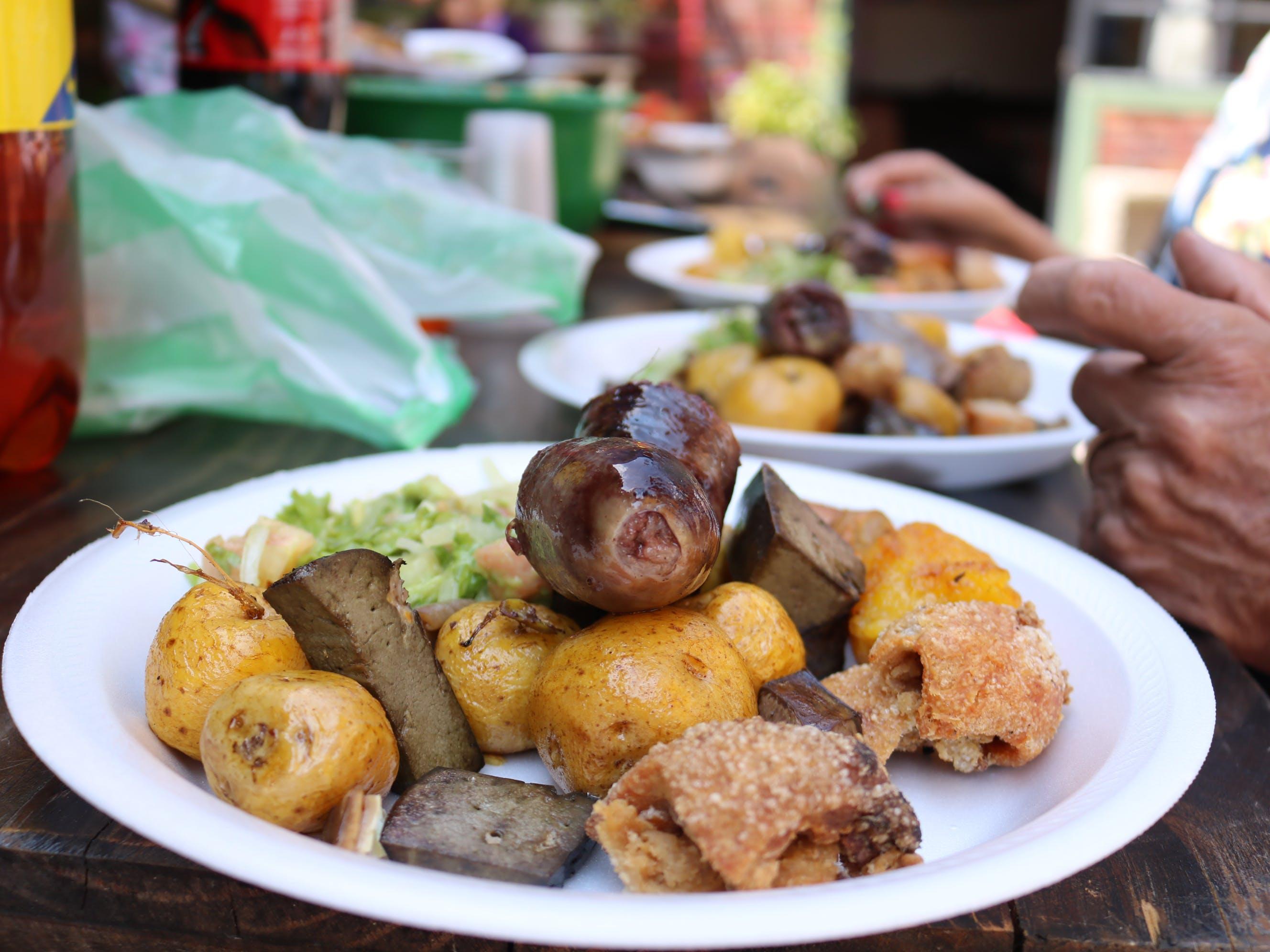 Free stock photo of Chiccharron, food, fritanga, papas