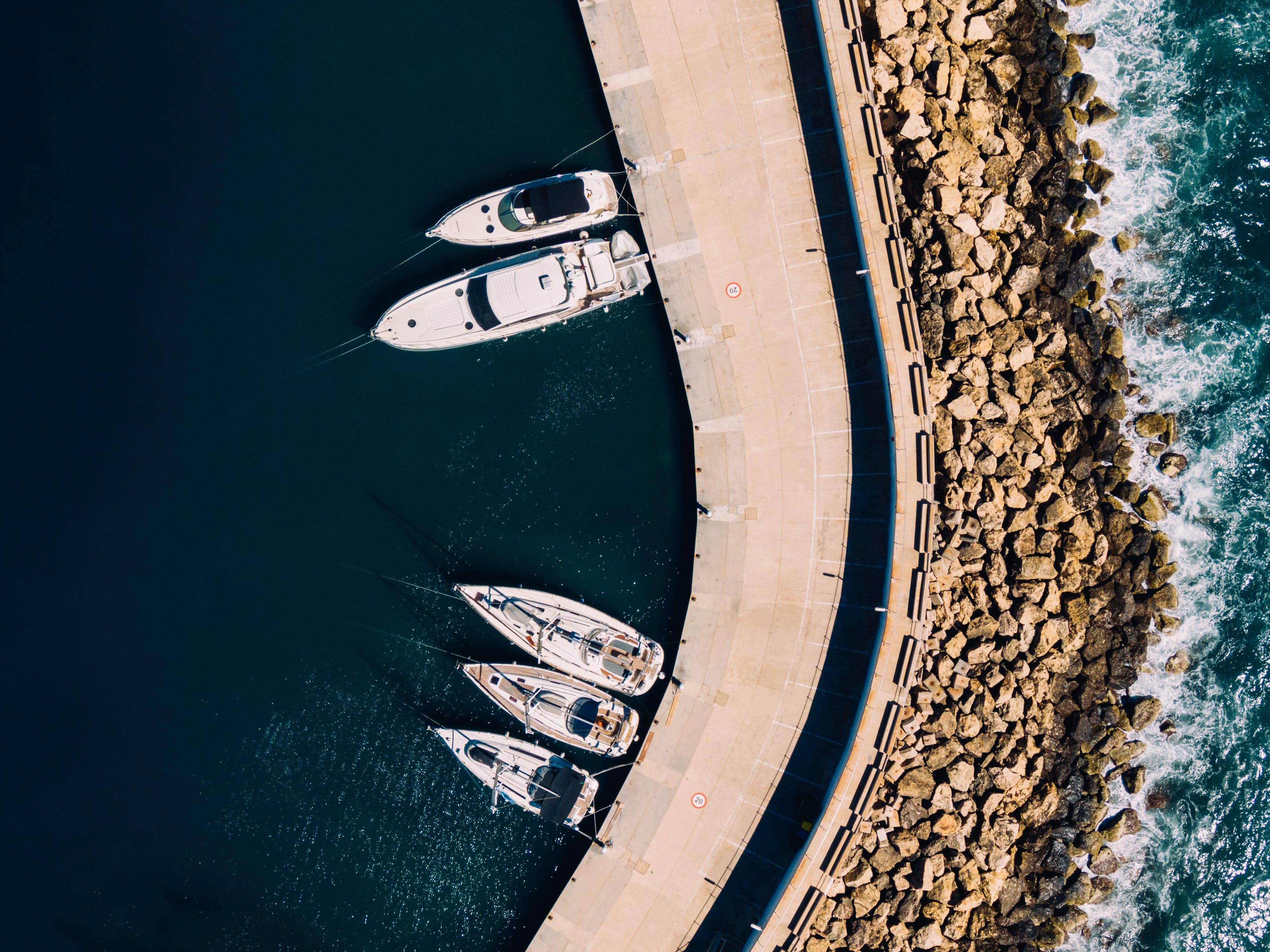 Photos gratuites de bateaux, d'en haut, embarcations, europe