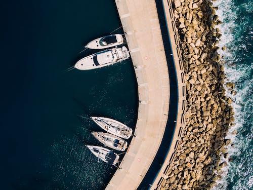 คลังภาพถ่ายฟรี ของ จากข้างบน, ทะเล, ท่าเรือ, ภาพถ่ายทางอากาศ