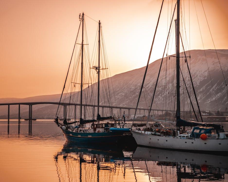 交通系統, 帆船, 日出
