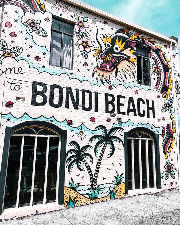 Bondi Beach Building With Graffiti Wall Art