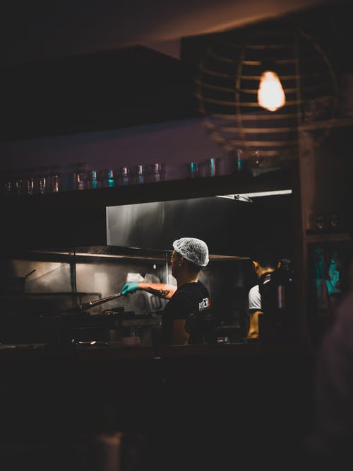 Man Cooking at the Kitchen