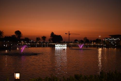 Ilmainen kuvapankkikuva tunnisteilla auringonlasku, Dubai, lastexit, meraas