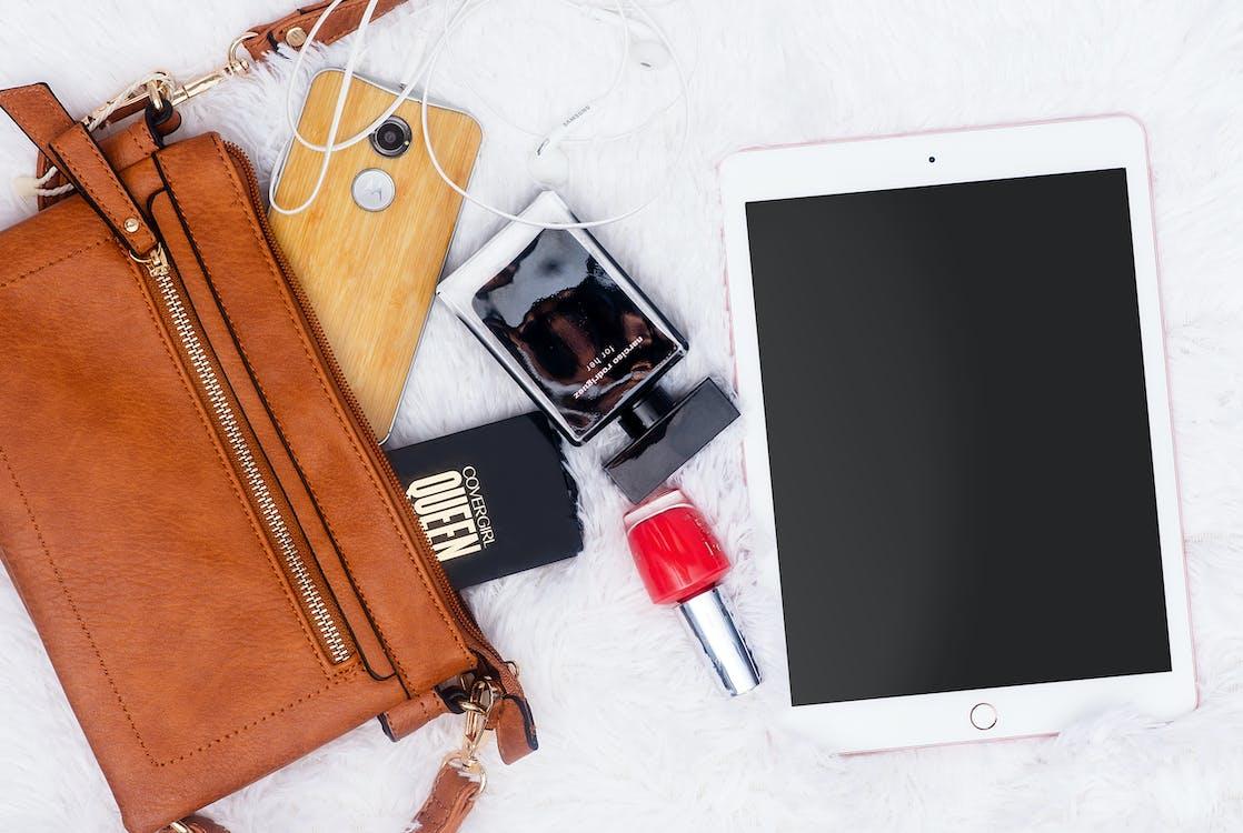 Flatlay, iPad, 化妝