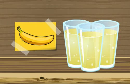 Free stock photo of banana, beverage, compote, cup