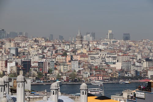 Free stock photo of binalar, deniz, galata, gemi
