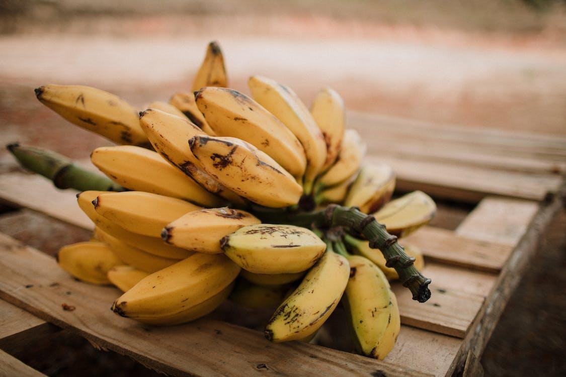 Banana Fruit On Wood Crate