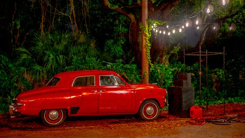 紅色的車, 舊車, 釀酒 的 免费素材照片