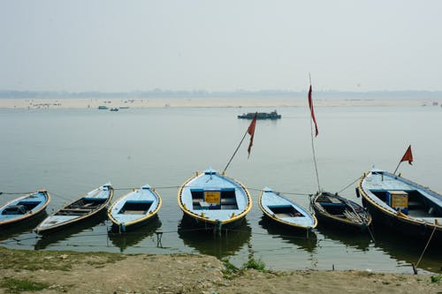 Free stock photo of boats, hinduism, india, travel