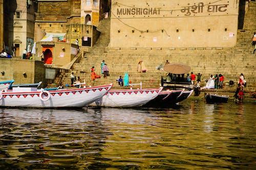 Free stock photo of boats, Ganga, hindu, hinduism