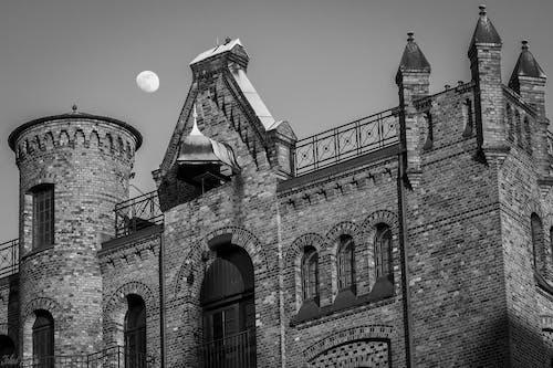 Gratis arkivbilde med arkitektur, måne