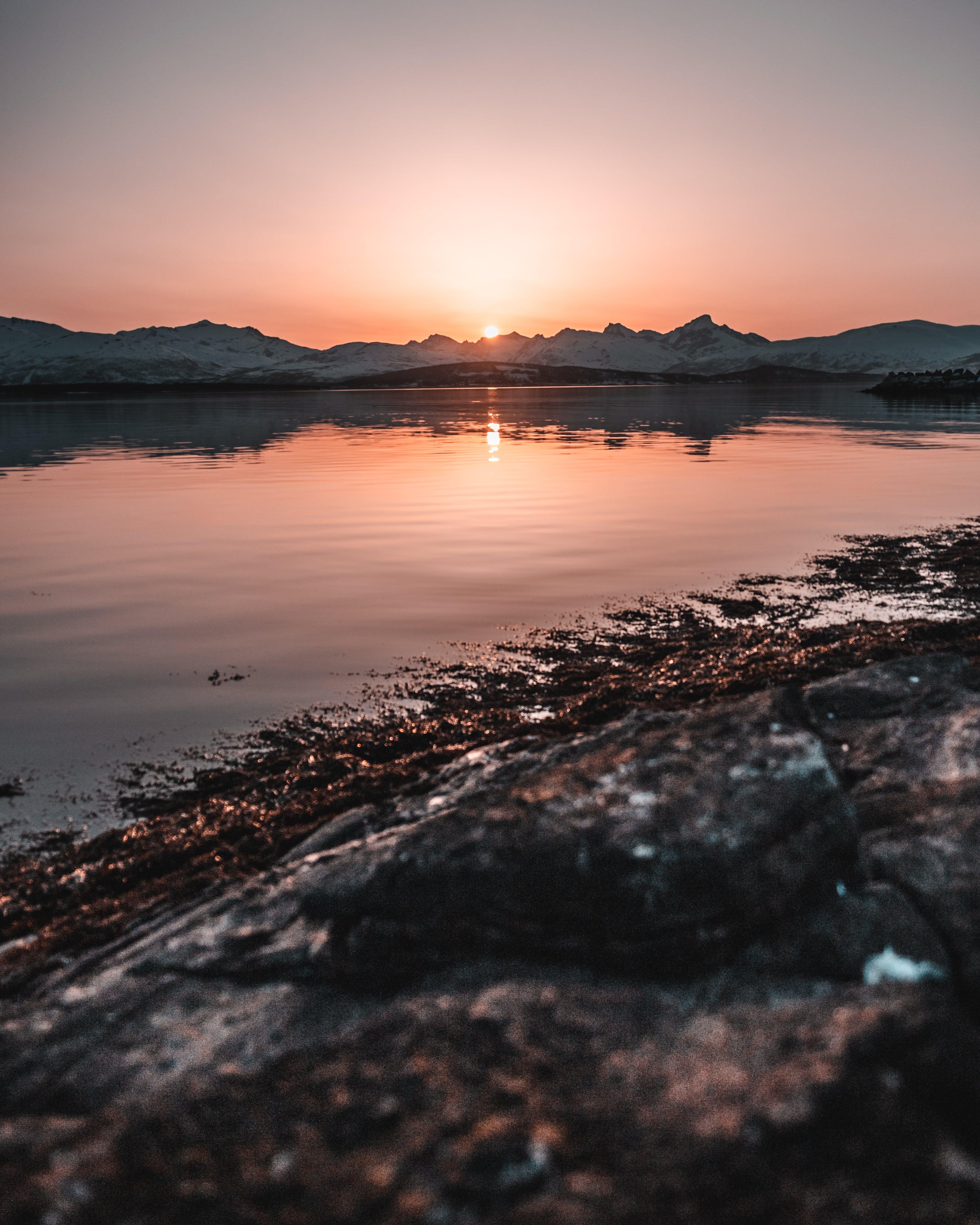 Základová fotografie zdarma na téma jezero, krajina, odraz, rozbřesk