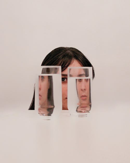 Two Clear Drinking Glasses With Water