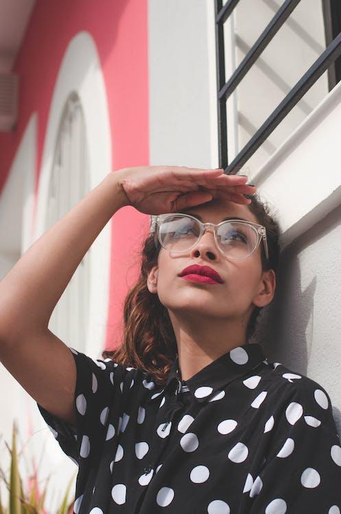 attraktiv, briller, kvinde