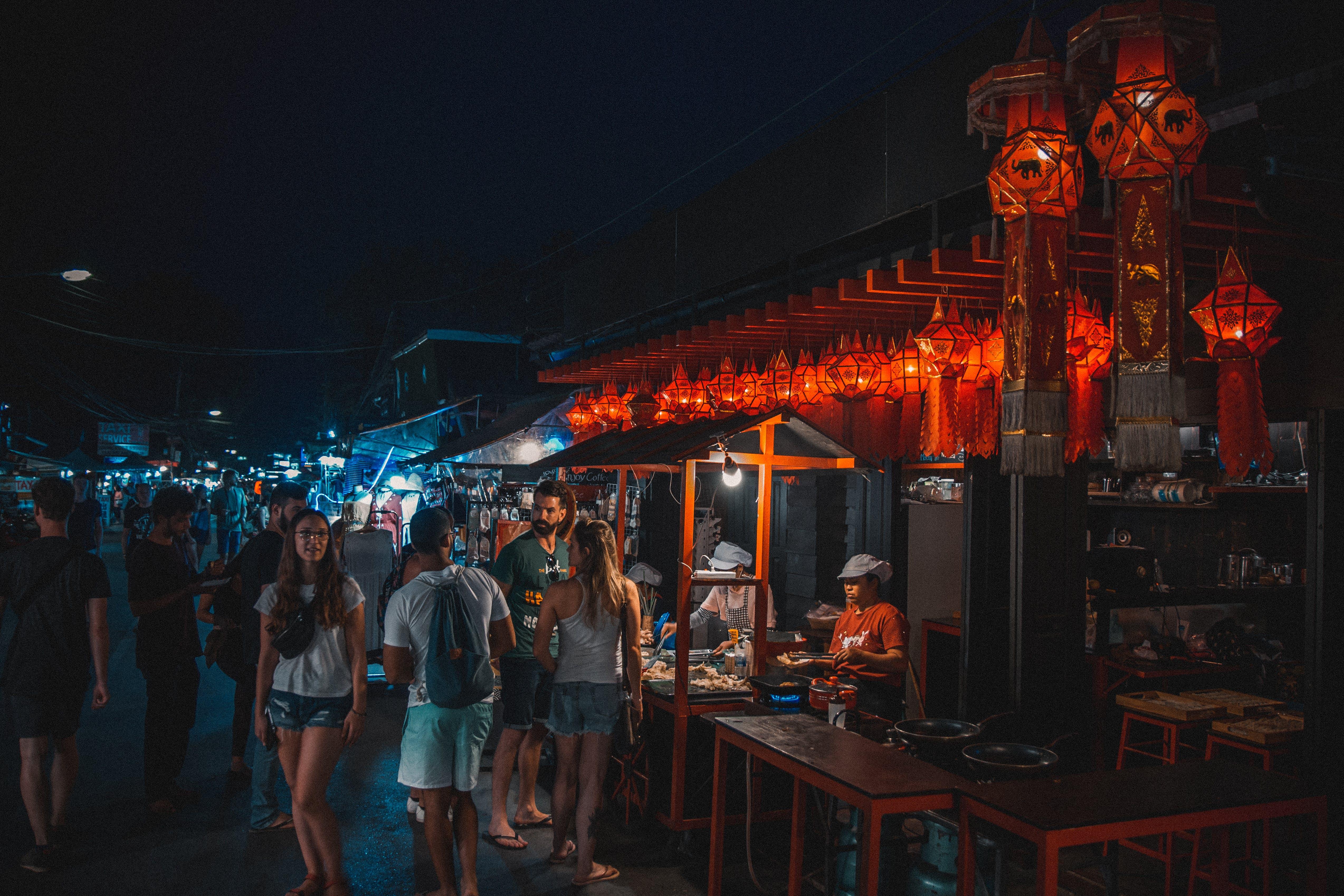 Kostnadsfri bild av asiatisk mat, dekor, folkmassa, gatumat