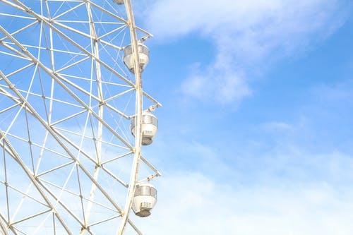 4k 바탕화면, 가벼운, 관람차, 구름의 무료 스톡 사진