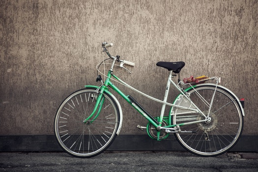 Free stock photo of wall, sport, green, bike