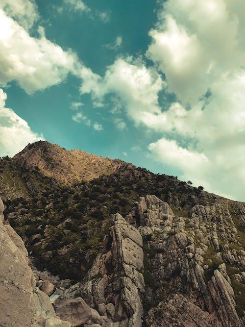 Darmowe zdjęcie z galerii z niebieskie niebo, niebo, piękny krajobraz, tapeta 4k
