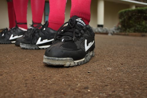 Free stock photo of black training shoes, rugby trainers