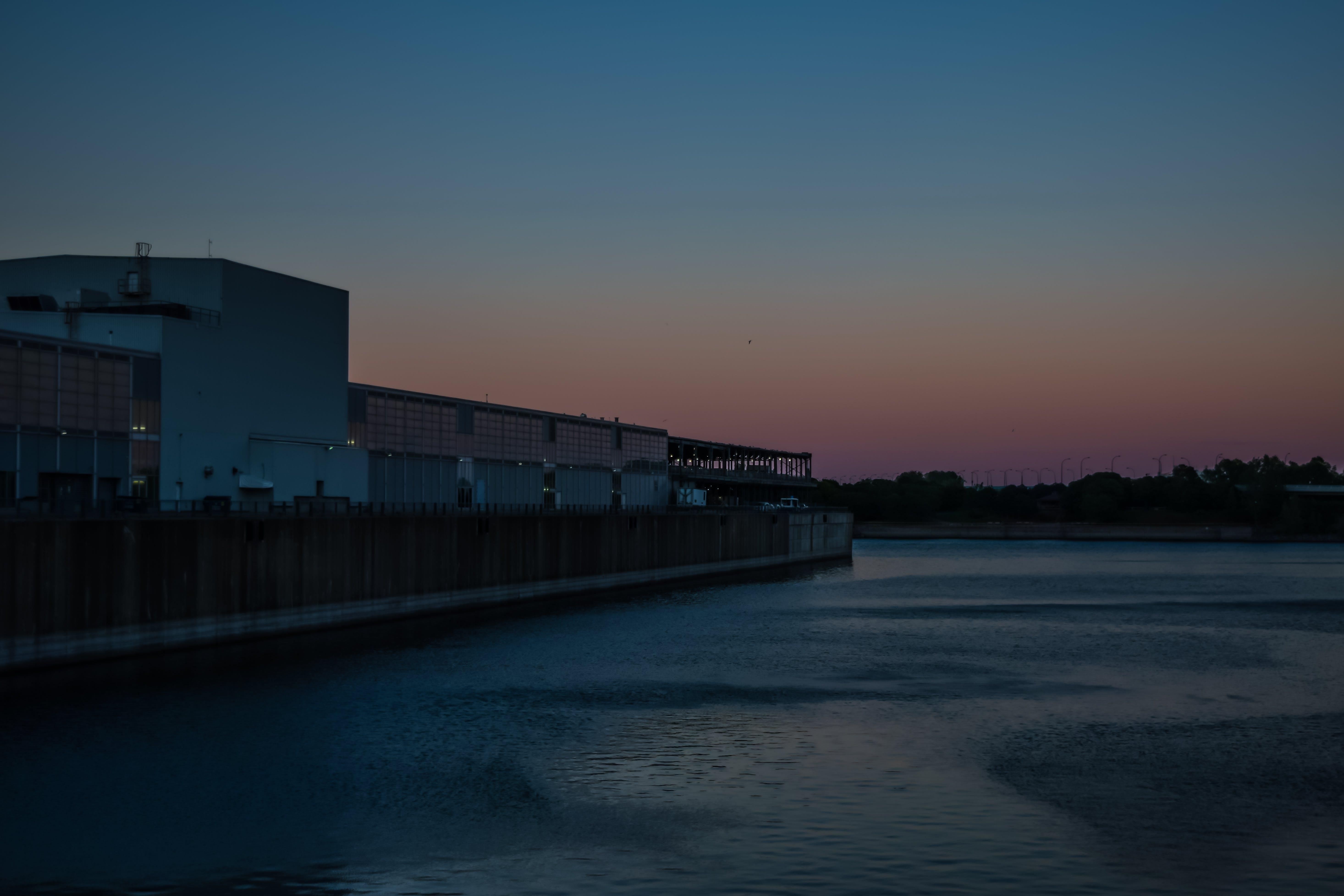 Gratis stockfoto met blauwe uur, canada, oude montreal, zonsondergang