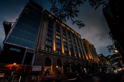 Ingyenes stockfotó éjszaka, éjszakai esés, éjszakai város, kék óra témában