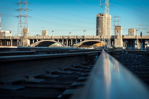 Free stock photo of bridge, city, concrete, power lines