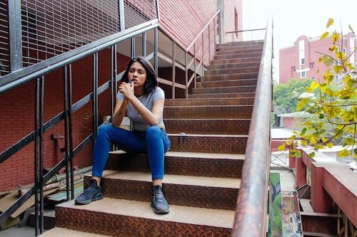 Foto d'estoc gratuïta de art, asiàtics, blau, confiança