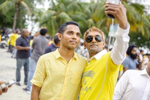 Two Men Taking Selfie