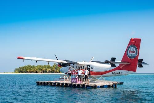 Foto d'estoc gratuïta de a l'aire lliure, aigua, ala, ala d'avió