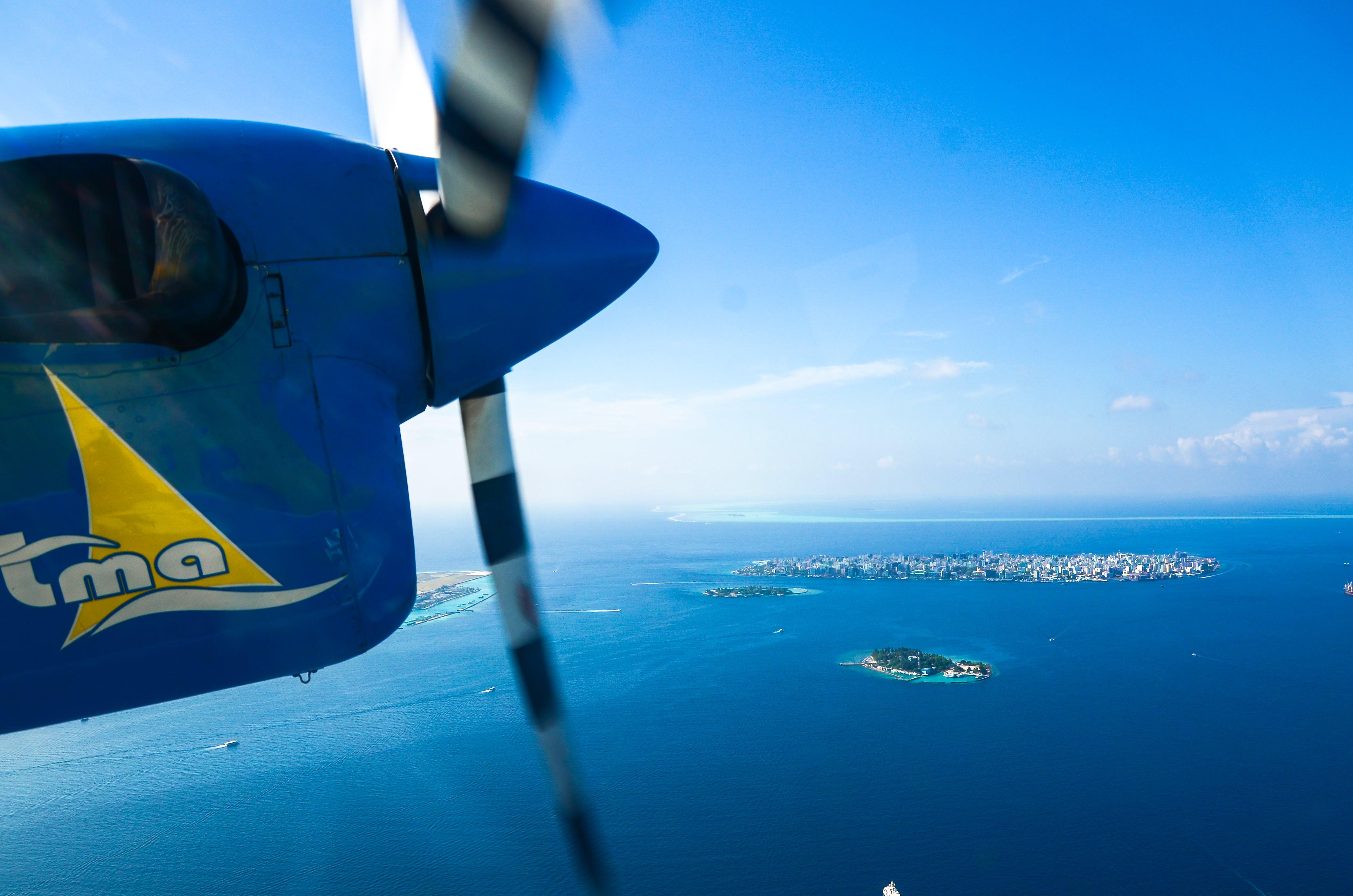 Photos gratuites de air, aviation, avion, bleu