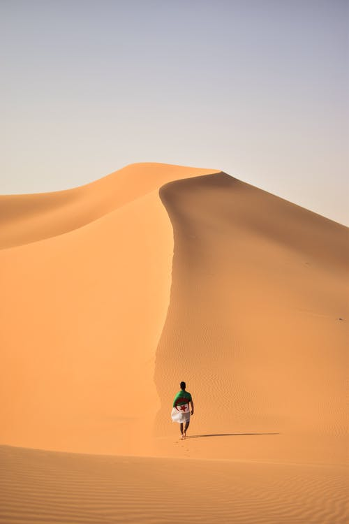 Man Walking on Desert