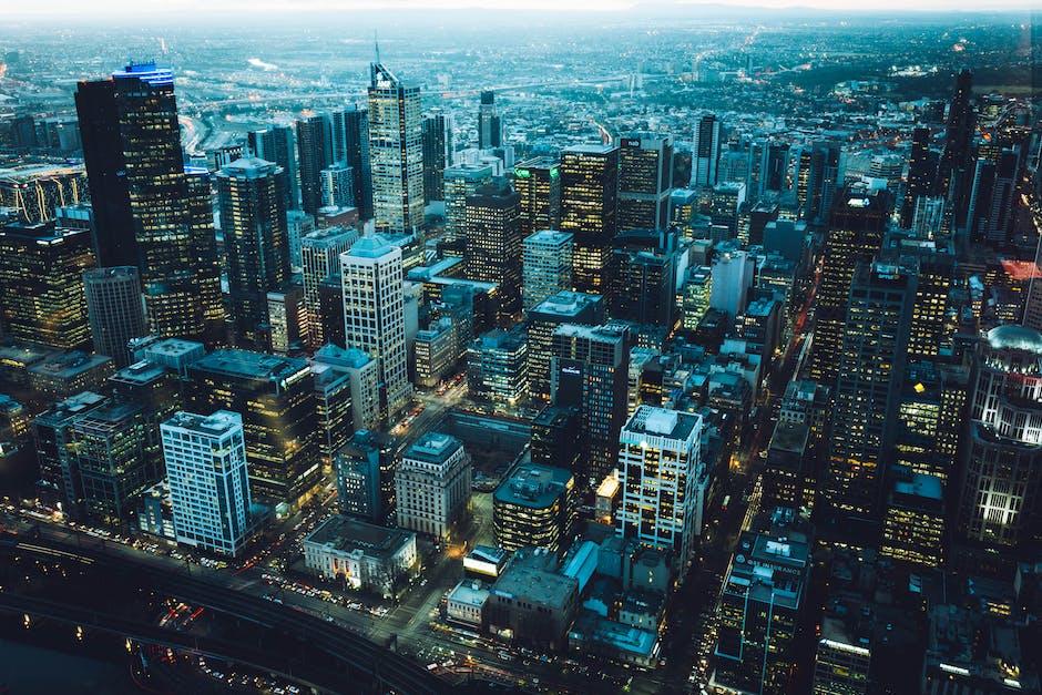 Bird s eye view of city