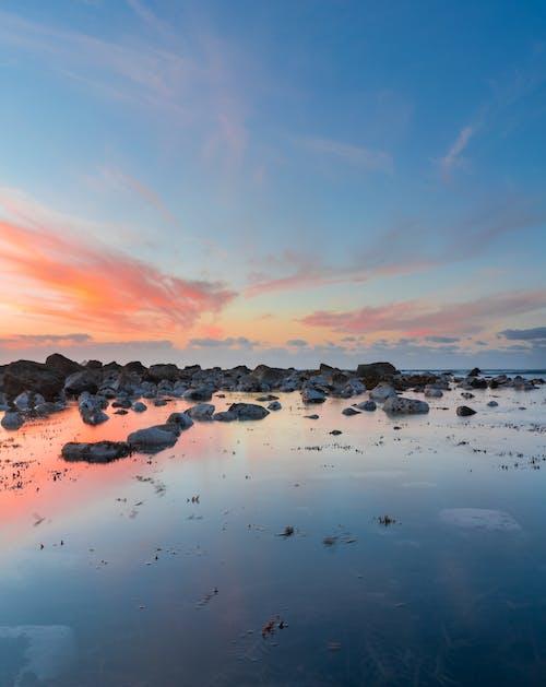 Gratis arkivbilde med blå, daggry, hav, horisont