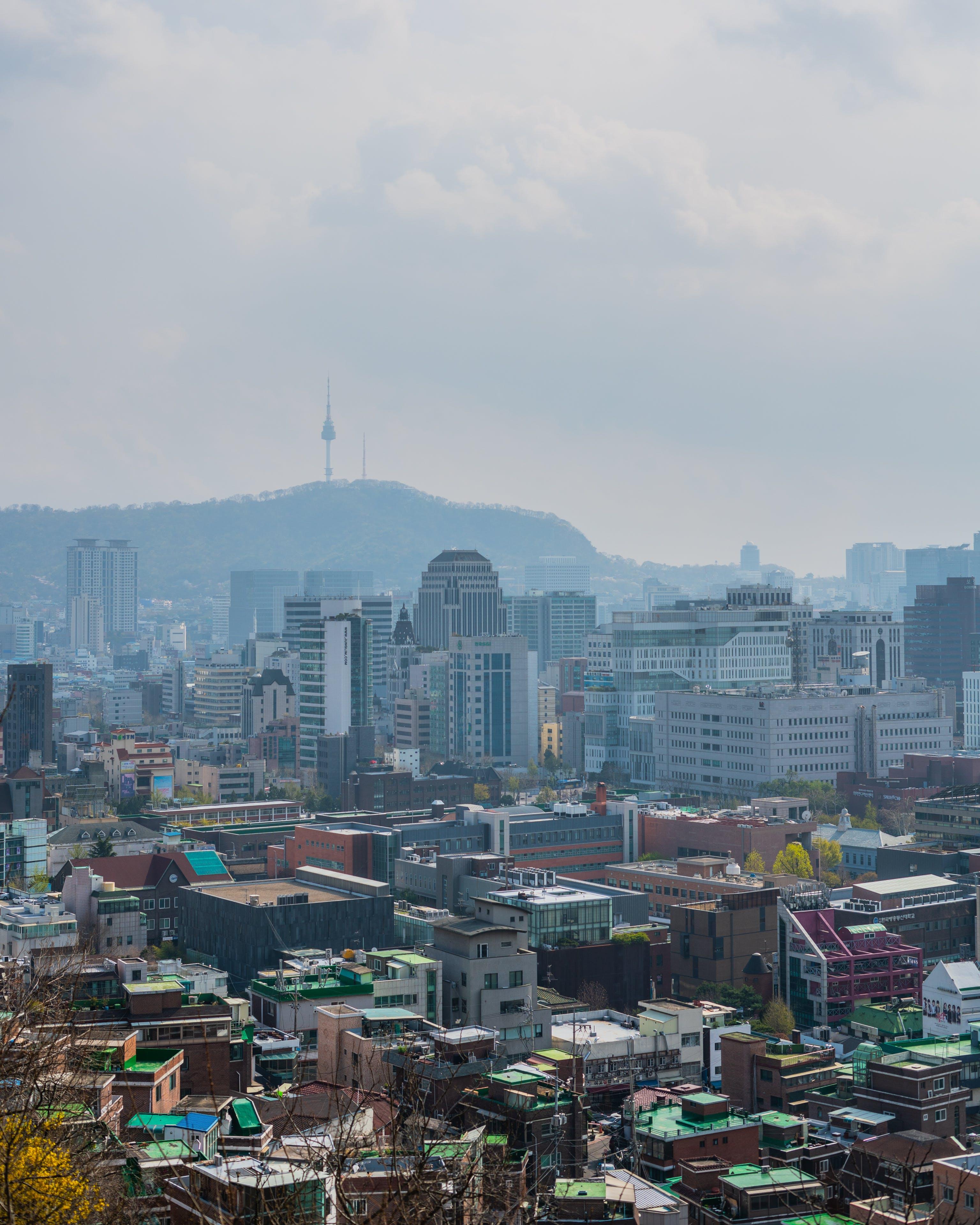 Gratis lagerfoto af bygninger, bylandskab, Korea, luftforurening