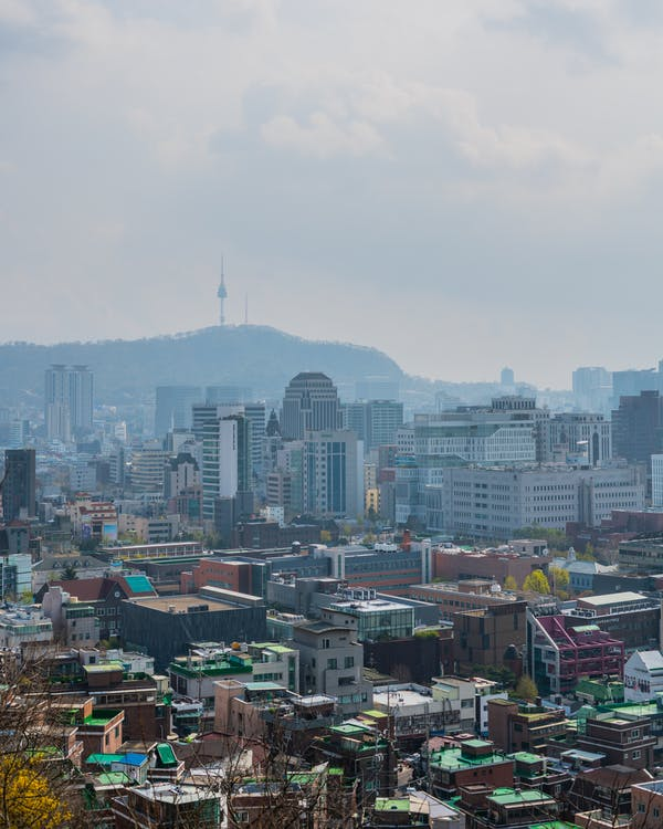 budovy, cestovať, Kórea
