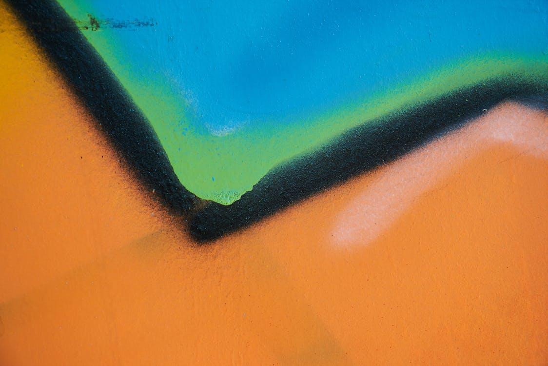 abstrakt maleri, artwork, close-up