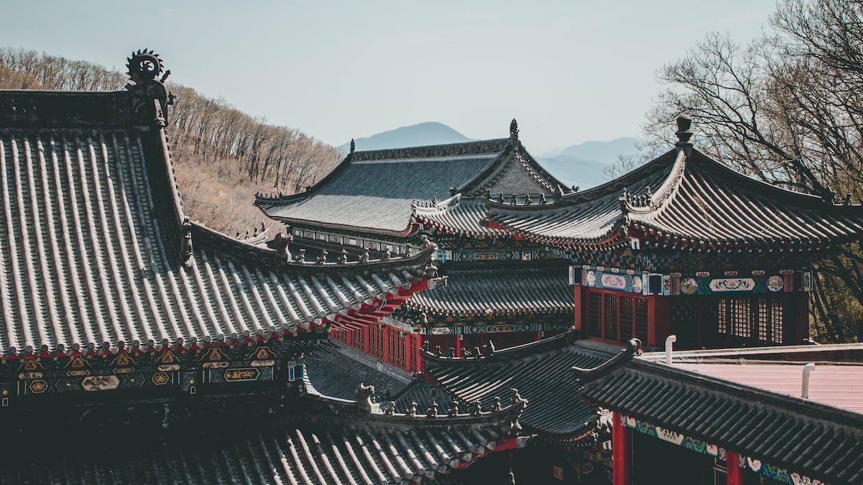 αρχιτεκτονική, Ασιατική αρχιτεκτονική, εξωτερικός χώρος