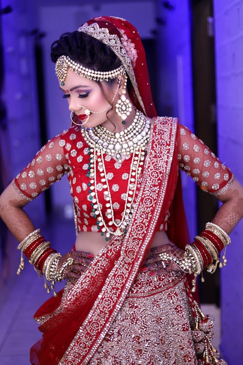 Free stock photo of delhi bride, indian bride, indiangirls