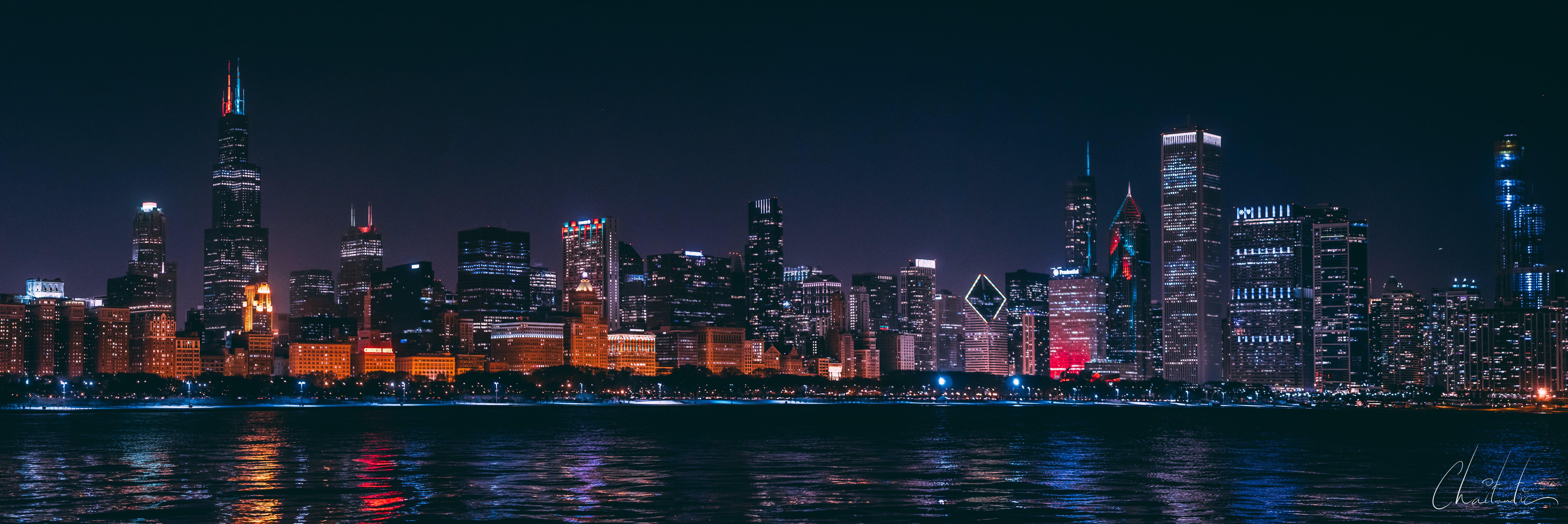 Kostenloses Stock Foto zu chicago, panaroma, skline
