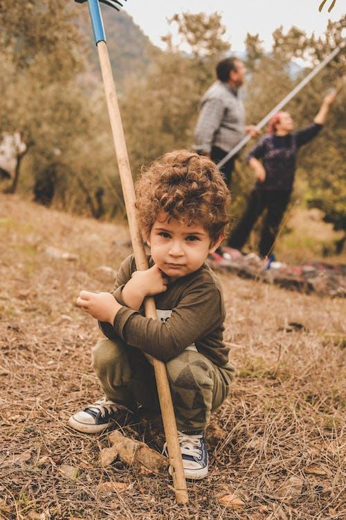 Photos gratuites de adorable, enfant, garçon, herbe