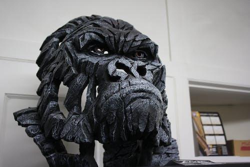 Free stock photo of ape, metal, monkey, sculpture