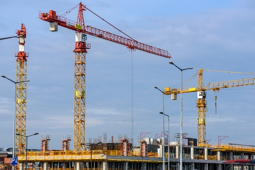 Free stock photo of sky, building, construction, cranes