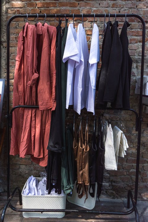 Clothes on Clothes Rack