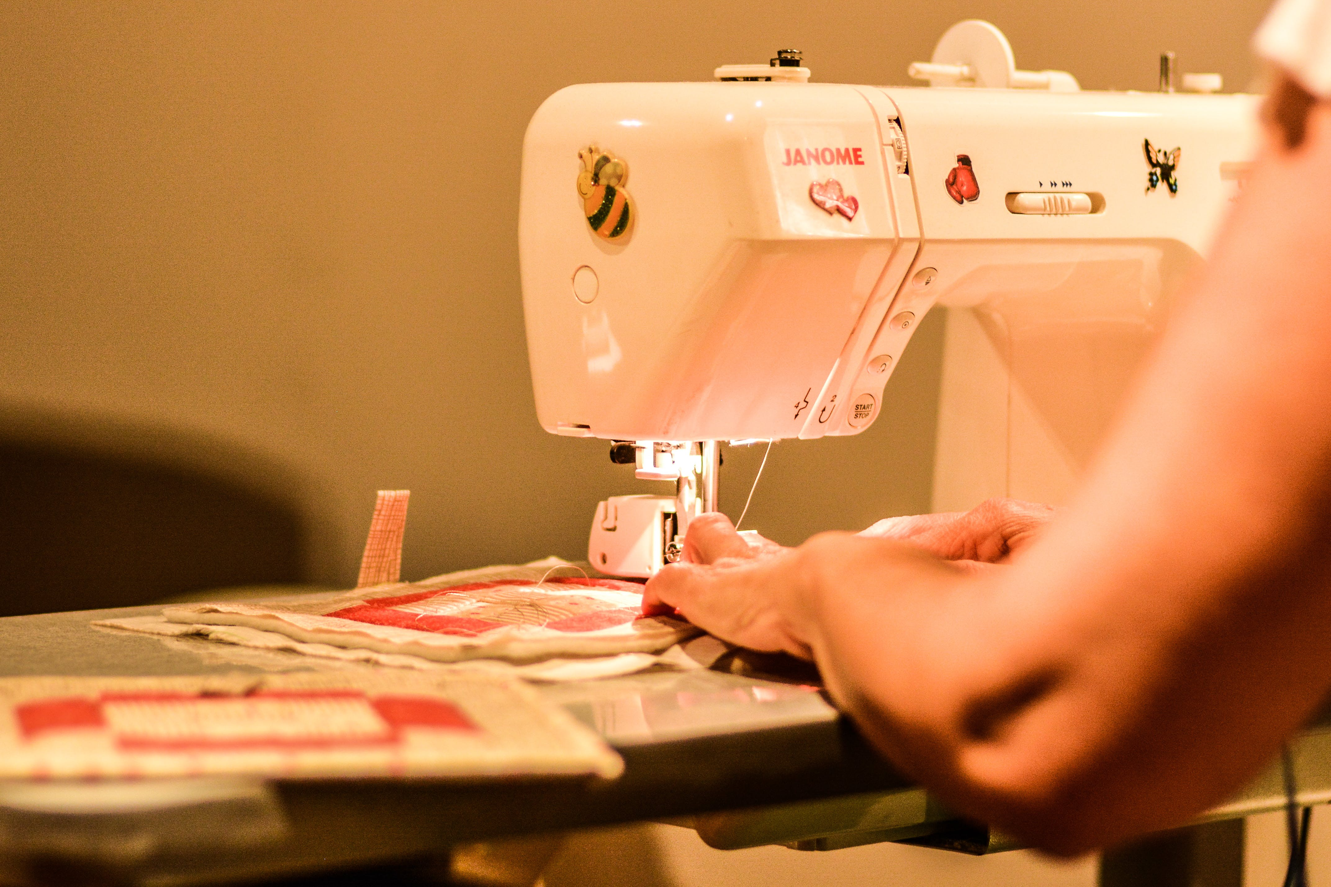 Free stock photo of machine, seam, sewing, sewing machine
