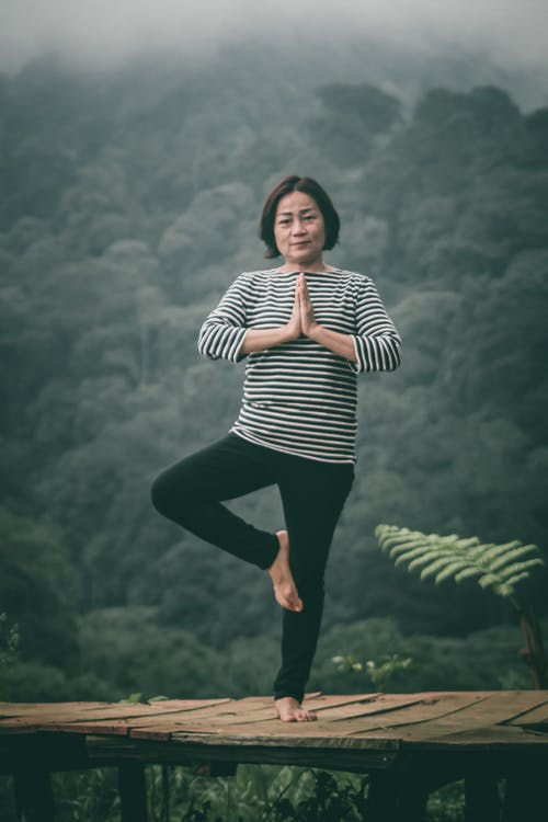 Free stock photo of Woman nature yoga
