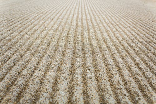 Free stock photo of beach, closeup, grains, raked
