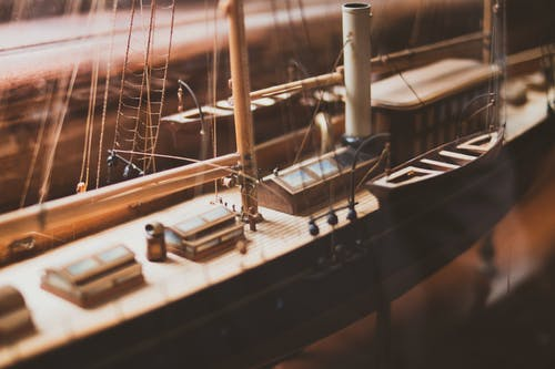 Brown Ship Scale Model