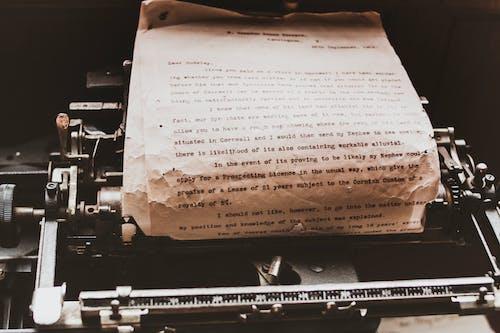 คลังภาพถ่ายฟรี ของ กระดาษ, กลไก, การพิมพ์, การศึกษา