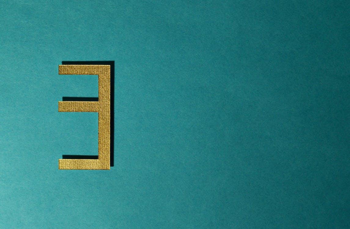 abstraktný, číslo, dekoratívny